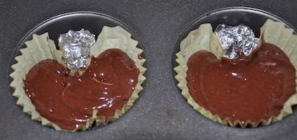 heart cupcakes batter
