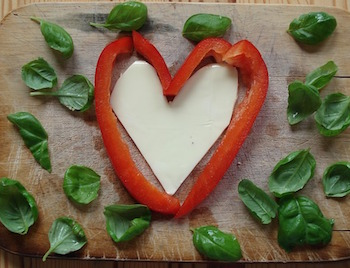heart shaped pepper