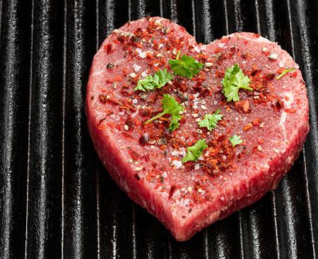 heart shaped meatball or hamburger