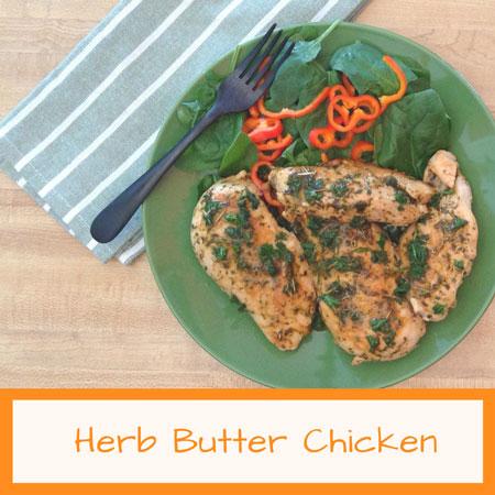 herb butter dish