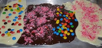 making chocoalte bark