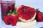 jar of strawberry jelly