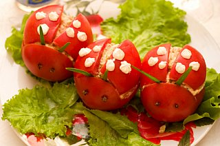 ladybug shaped food