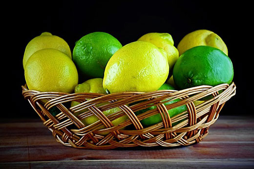 lemon lime basket