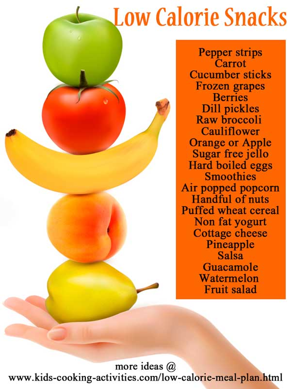 low calorie snack ideas