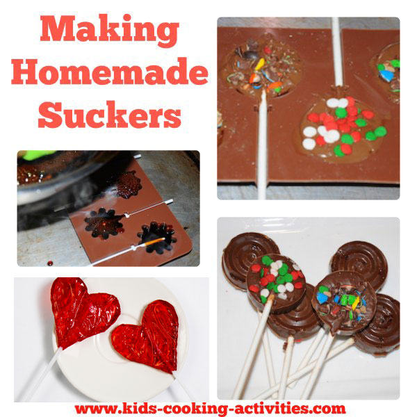 making homemade suckers