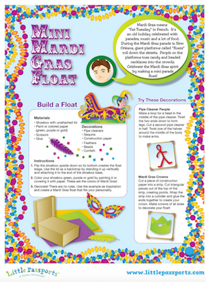 mardi gras printable craft