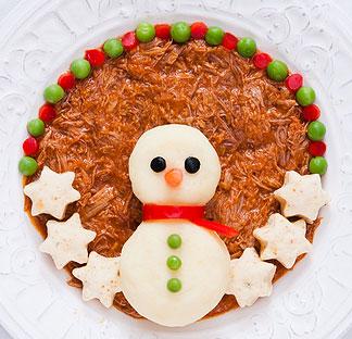 mashed potato snowman