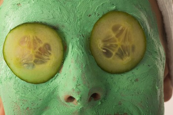 green facial mask