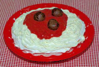 meatball spaghetti cake