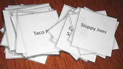 recipe board cards
