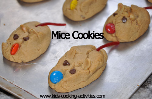 picture of peanut butter mice cookies with Christmas cookie recipes