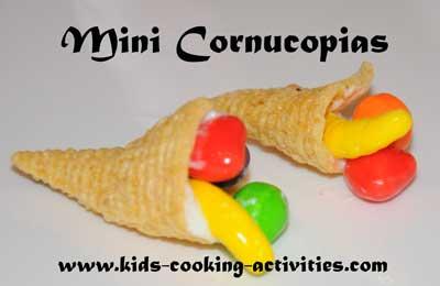mini cornucopias