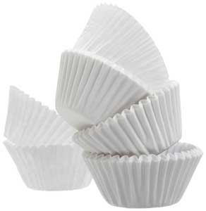 Cupcake Muffin Liners white