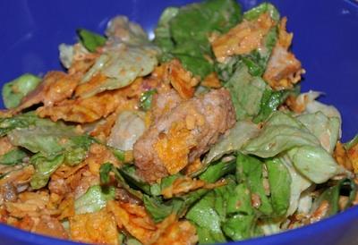 chicken nacho salad