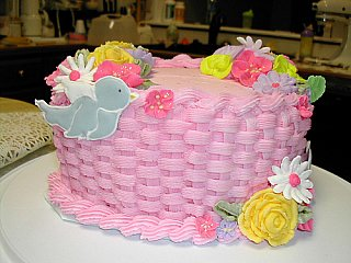 cake with rope border