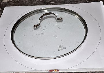 tracing circles on cardboard