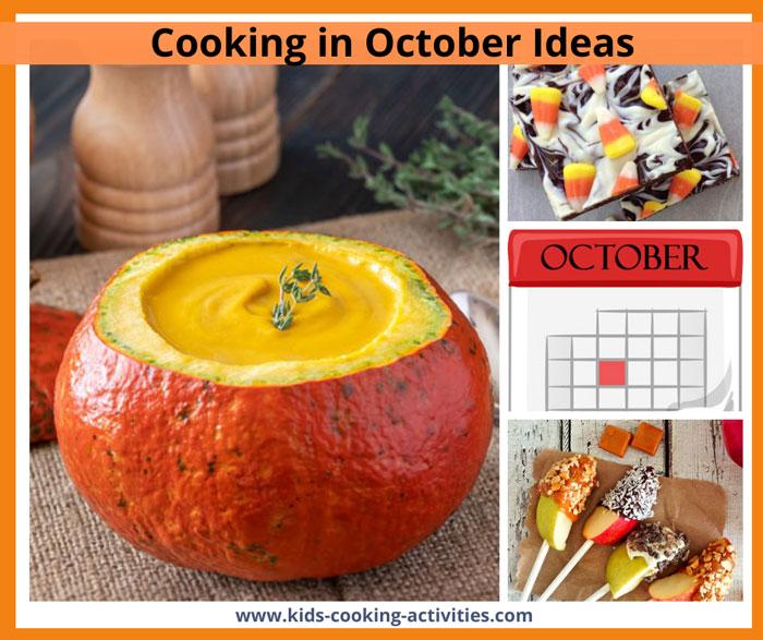 october cooking activities