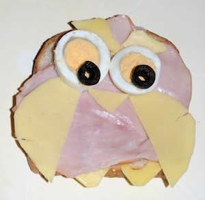 owl ham sandwich