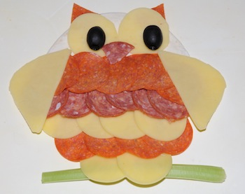 owl on tortilla
