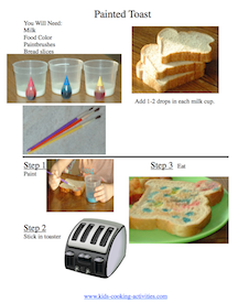 painted toast picture recipe