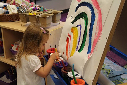 kids painting with homemade paint recipes