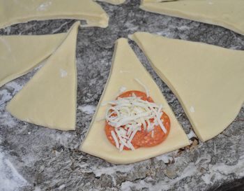 rolling pizza rolls