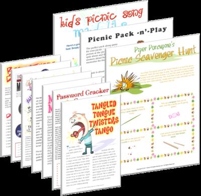 Picnic Game Ideas: Bargain Hamper of Printable Games