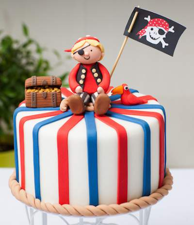 pirate cake rope border