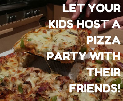 hosting a pizza party