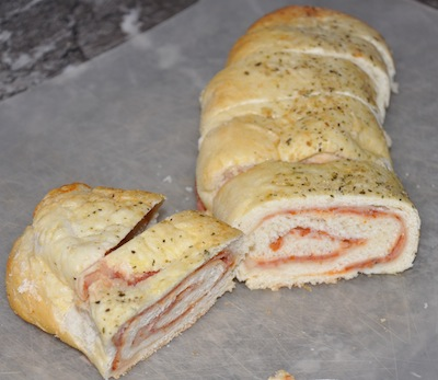 sliced pizza stromboli