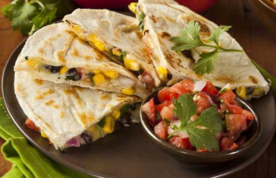 vegeatble quesadilla