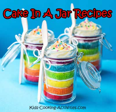 how to make cake in a jar with icing