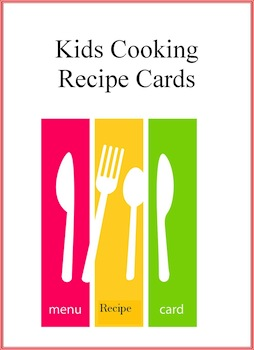 Kids Cooking Activities Newsletter