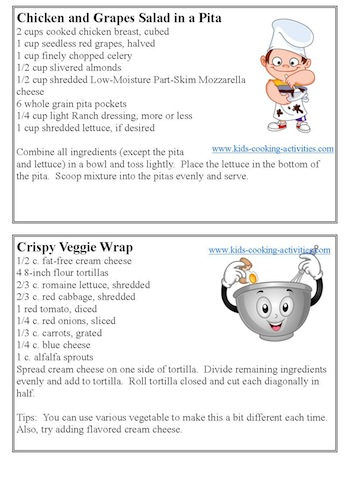 Kids Free Recipe Cards