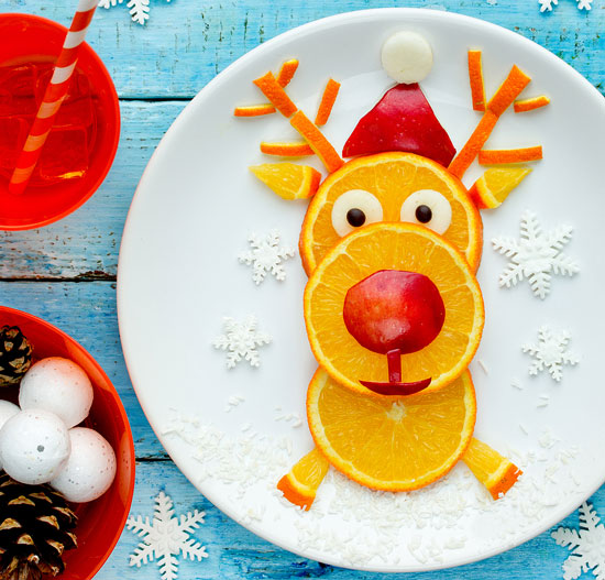 reindeer made out of oranges