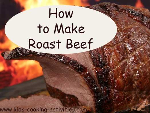 making roast beef