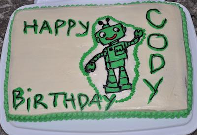 robot transfer cake
