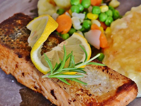 salmon cooked