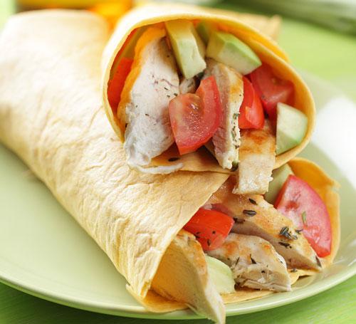 chicken tortilla sandwich