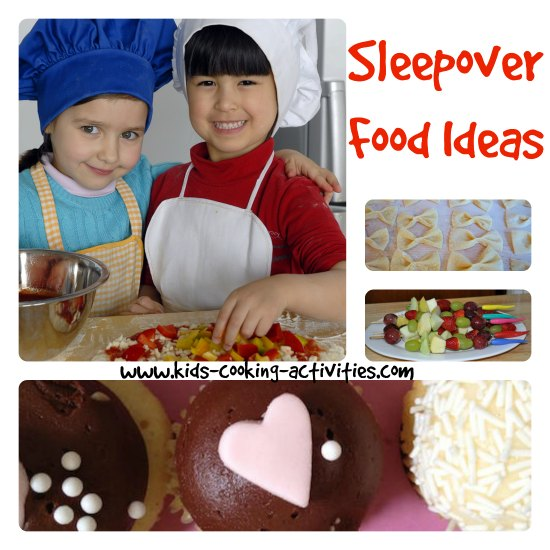 sleepover food ideas collage