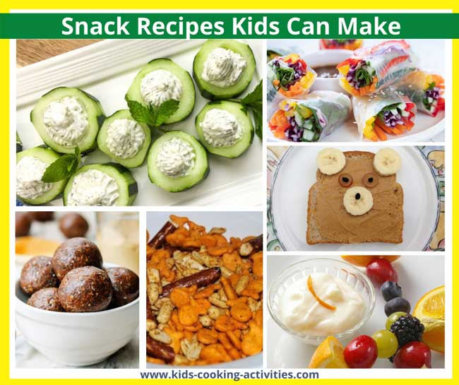 snack recipes kids can make