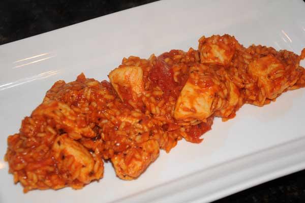 chicken spaghetti rice