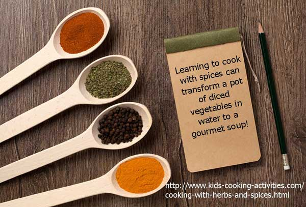 spices in soup