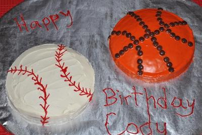 sport ball cakes