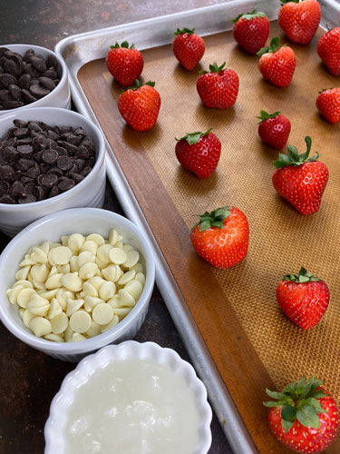 strawberry dipping