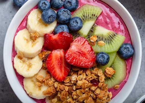 strawberry with fresh fruit