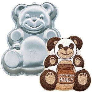 teddy bear cake with stars