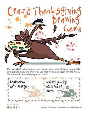 Crazy Thanksgiving Drawing Game