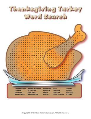 Thanksgiving Word Searches Pack of three